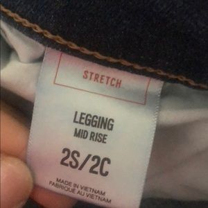 Express Jeans - Express mid-rise Denim Stretch ankle leggings.